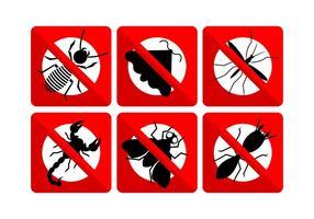 Conjunto vetorial de insetos vetor