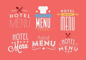 Vector Set Hotel Menu