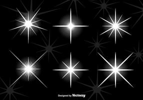 Bright star lights vector