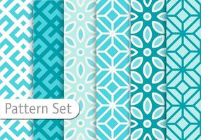 Azuro Blue Geometric Patterns vector