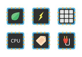 Cpu icon set