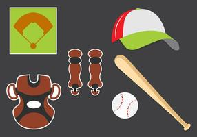 Vector Set of Baseball Symbols