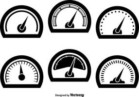 Tachometer icons vector