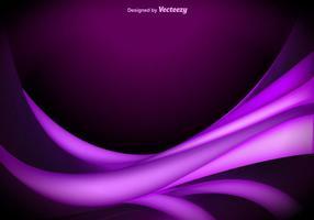 Vetor de ondas abstratas roxas