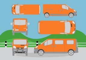 Minibús vector