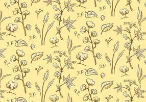 Patrón de la planta de algodón