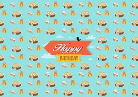 Birthday pattern background