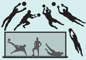 Goal Keeper Silhouettes