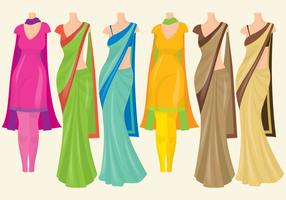 Indian Dresses vector