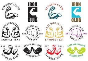 Arm Wrestling Logos vector