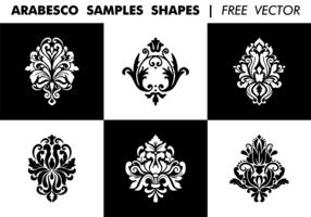 Arabesco Sample Shapes Vector