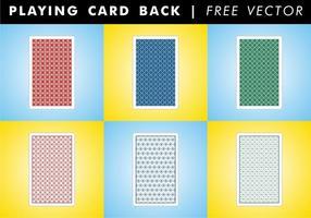 Spela kort tillbaka gratis vektor
