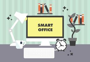Free Modern Workplace Illustration Vector