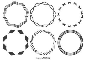Hand Drawn Frame Shapes vector