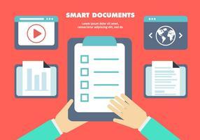 Fundo de vetores de documentos de negócios planos gratuitos