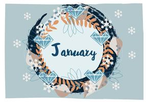 2016 January Vector Background