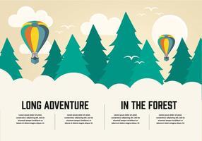 Plano libre largo fondo de vectores de aventura