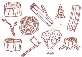 Vectores de madera libre
