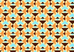 Orange and Teal Abstract Pattern Vector