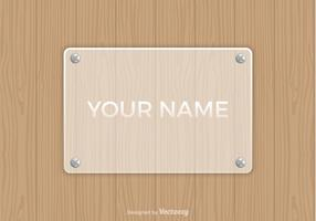Free Vector Frosted Glass Name Platte