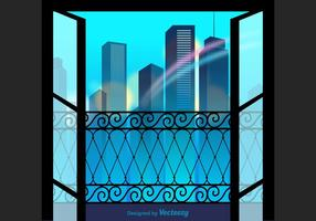 Gratis City View Vektor Illustration