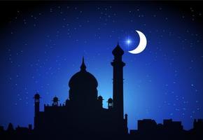 Gratis arabiska nätter vektor bakgrund
