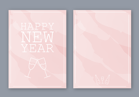 Kostenlose Happy New Year Card Vektor