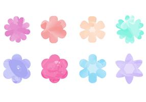 Gratis Waterverf Bloemen Vector