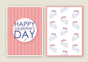Vector de carte de la Saint-Valentin gratuit