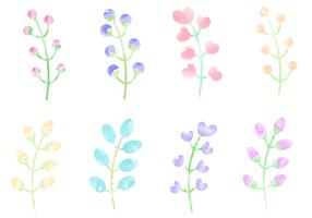 Kostenlose Aquarell Pflanzen Vektor