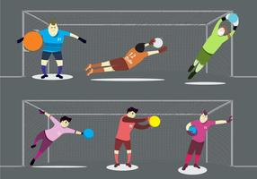 Goal Keeper in Actions vector