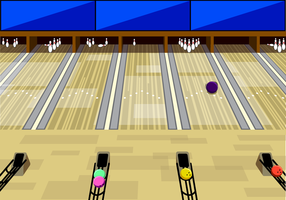Gratis Bowling Alley Achtergrond Vector