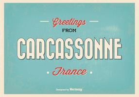 Carcassonne France Greeting Illustration