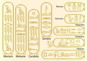 Names in hieroglyphics vector