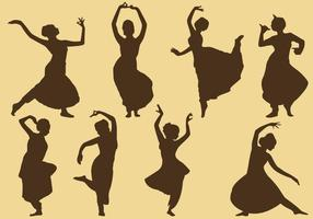 Indian Woman Silhouettes vector