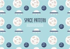 Fond d'écran vectoriel gratuit Cute Space Pattern