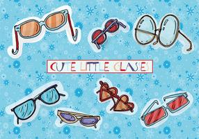 Free Cute Drawn Drawn Glasses Vector Background