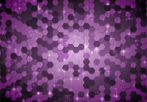 Free Abstract Hexagone Purple Vector