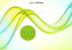 Abstract blue and green wave vector