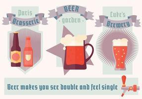 Gratis Minimale Bier Illustratie Vector Achtergrond