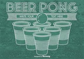 Fundo de pong de cerveja