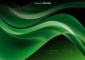 Verde abstracto olas