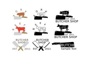 Butcher And Cleaver Logos vector