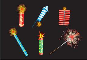 Vário Fire Crackers Vector
