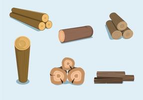 Vetor de troncos de madeira