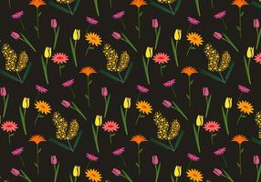 Floral Mimosa Vector Pattern