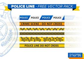 Polizei-Linie Free Vector Pack