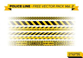 Polizei-Linie Free Vector Pack Vol. 2