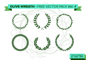 Olijfkrans Gratis Vector Pack Vol. 4
