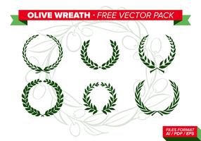 Pacchetto di vettore gratuito Olive Wreath